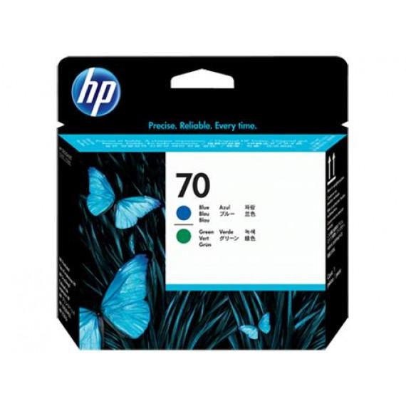 Cabeçote de Impressão HP 70 - Azul e Verde - C9408A