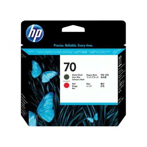 Cabeçote de Impressão HP 70 - Preto Fosco e Vermelho - C9409A