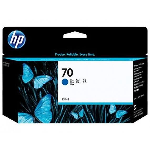 Cartucho Para Plotter HP 70 - Azul 130 ml - C9458A