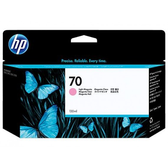 Cartucho Para Plotter HP 70 - Magenta Claro 130 ml - C9455A