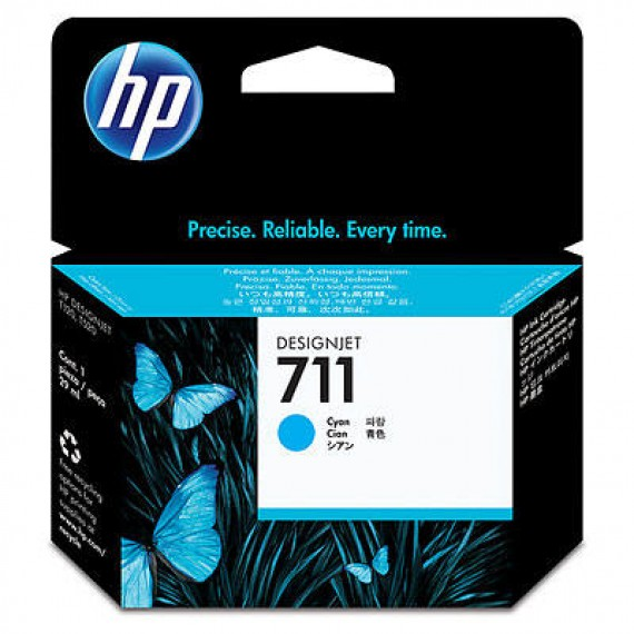 Cartucho HP 711 - Tinta Ciano 29 ml - CZ130A