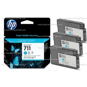Cartucho HP 711 Pacote Triplo - Tinta Ciano 29 ml - CZ134A