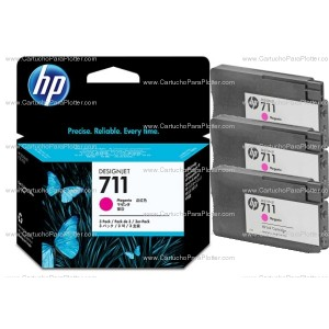 Cartucho HP 711 Pacote Triplo - Tinta Magenta 29 ml - CZ135A