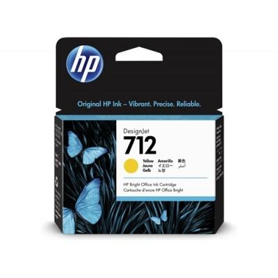 Cartucho HP 712 - Tinta Amarelo 29 ml - 3ED69A