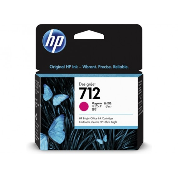 Cartucho HP 712 - Tinta Magenta 29 ml - 3ED68A