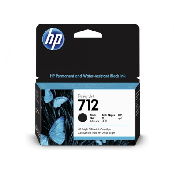 Cartucho HP 712 - Tinta Preto 38 ml - 3ED70A