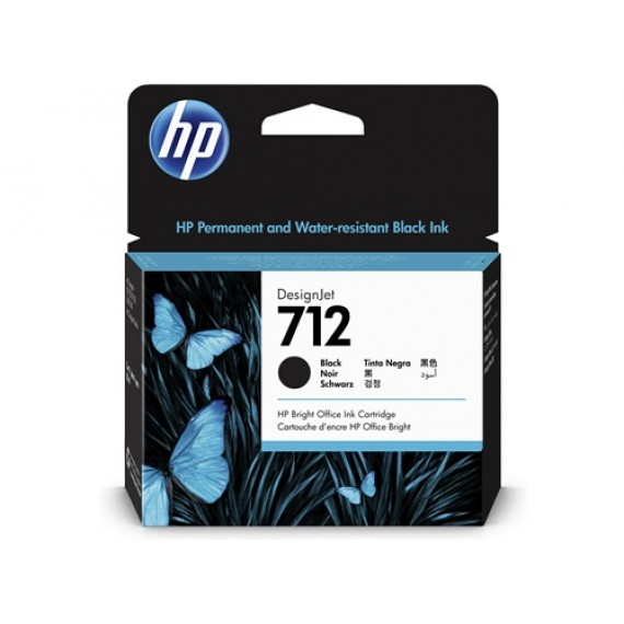 Cartucho HP 712 - Tinta Preto 80 ml - 3ED71A