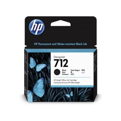 Cartucho HP 712 - Tinta Preto 80 ml - 3ED71A