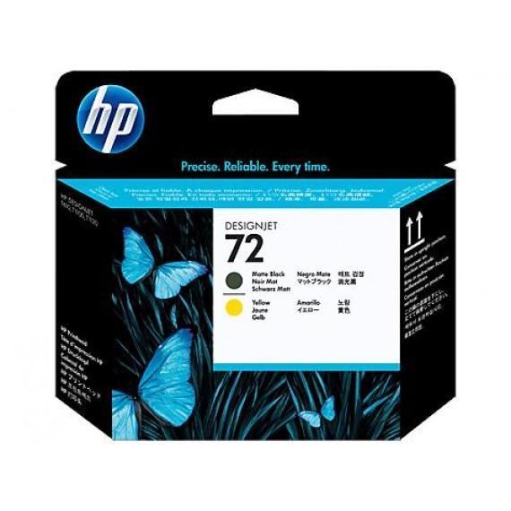 Cabeçote de Impressão HP 72 -  Amarelo e Preto Fosco - C9384A