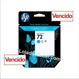Cartucho HP 72 - Tinta Ciano 69 ml - C9398A - Vencido