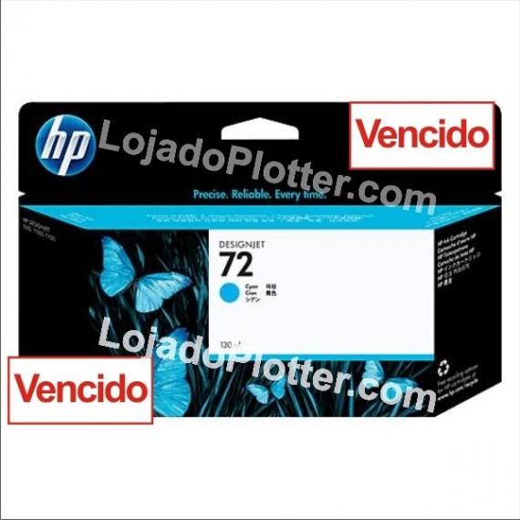 Cartucho HP 72 - Tinta Ciano (Cyan) 130 ml - C9371A - Vencido