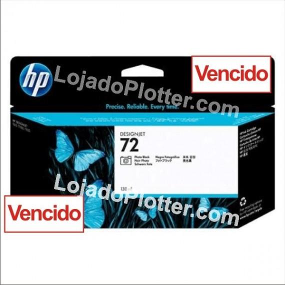 Cartucho HP 72 - Tinta Preto Fotográfico 130 ml - C9370A Vencido
