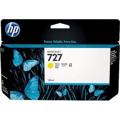 Cartucho HP 727 - Tinta Amarela 130 ml - B3P21A para Plotter HP Designjet T920, T930, T1500, T1530, T2500 e T2530