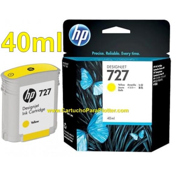 Cartucho HP 727 - Tinta Amarelo 40 ml - B3P15A para Plotter HP Designjet T920, T930, T1500, T1530, T2500 e T2530