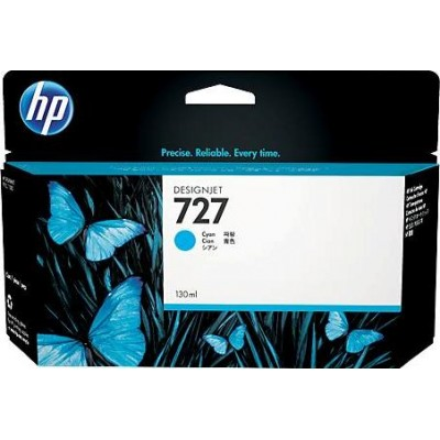 Cartucho HP 727 - Tinta Ciano 130 ml - B3P19A para Plotter HP Designjet T920, T930, T1500, T1530, T2500 e T2530