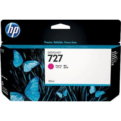 Cartucho HP 727 - Tinta Magenta 130 ml - B3P20A para Plotter HP Designjet T920, T930, T1500, T1530, T2500 e T2530