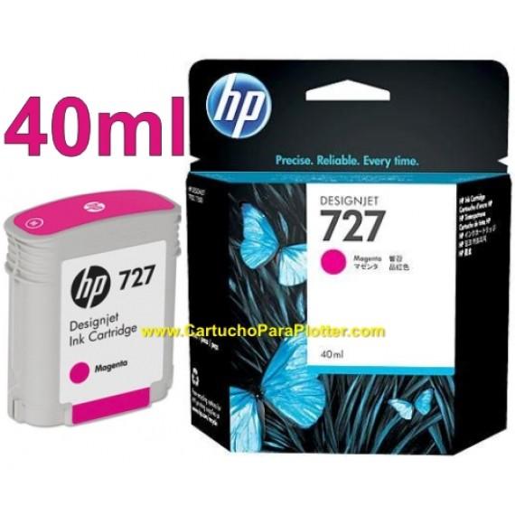 Cartucho HP 727 - Tinta Magenta 40 ml - B3P14A para Plotter HP Designjet T920, T930, T1500, T1530, T2500 e T2530