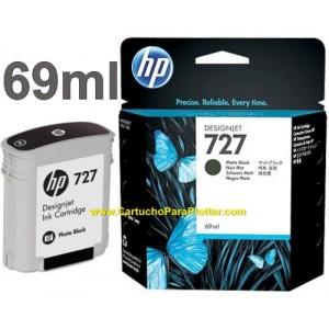 Cartucho HP 727 - Tinta Preto Fosco 69 ml - C1Q11A para Plotter HP Designjet T920, T930, T1500, T1530, T2500 e T2530