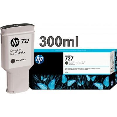 Cartucho HP 727 - Tinta Preto Fosco (MK) 300 ml - C1Q12A para Plotter HP Designjet T920, T930, T1500, T1530, T2500 e T2530