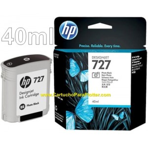 Cartucho HP 727 - Tinta Preto Fotográfico 40 ml - B3P17A para Plotter HP Designjet T920, T930, T1500, T1530, T2500 e T2530