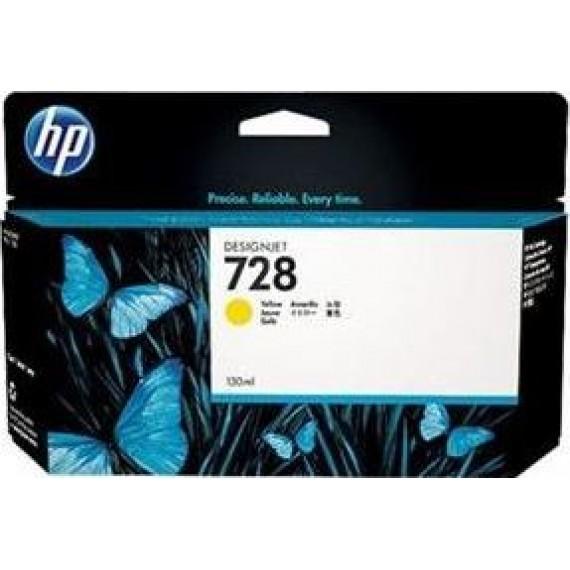 Cartucho de Tinta HP 728 - Amarela 130 ml - F9J65A para Plotter HP T730 e T830