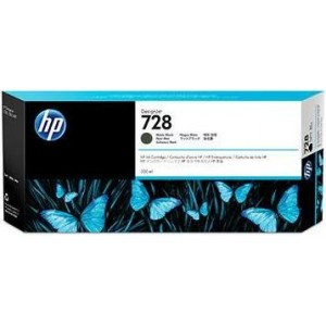 Cartucho de Tinta HP 728 - Tinta Preto Fosco (MK) 300 ml - F9J68A para Plotter HP T730 e T830