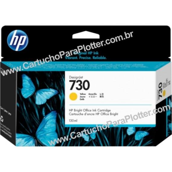 Cartucho de Tinta HP 730 Cor Amarelo 130 ml - P2V64A