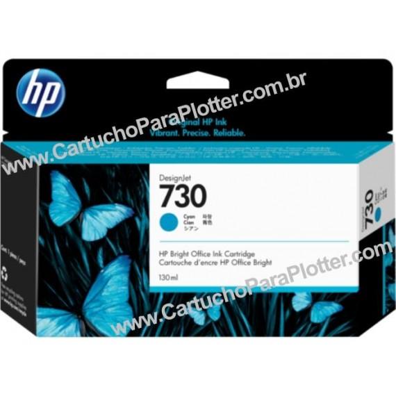 Cartucho de Tinta HP 730 Cor Ciano 130 ml - P2V62A