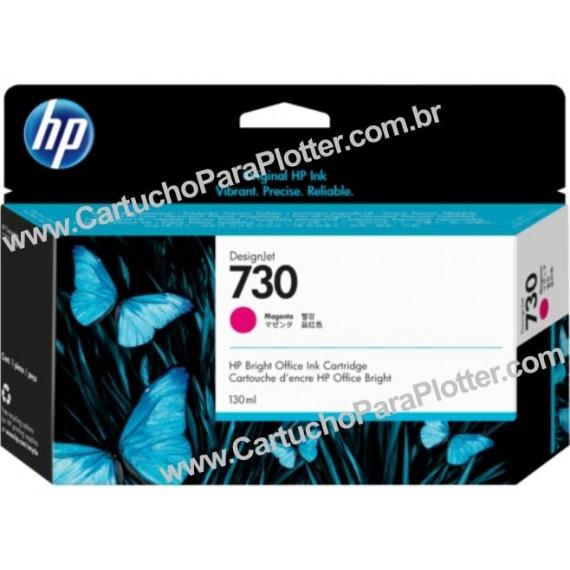 Cartucho de Tinta HP 730 Cor Magenta 130 ml - P2V63A