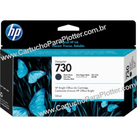 Cartucho de Tinta HP 730 Cor Preto Fosco 130 ml - P2V65A