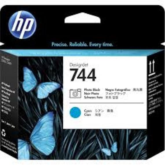 F9J86A Cabeça de impressão HP DesignJet 744 preto fotográfico e ciano
