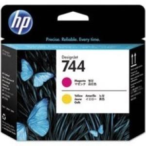 F9J87A Cabeça de impressão HP 744 DesignJet  magenta e amarelo