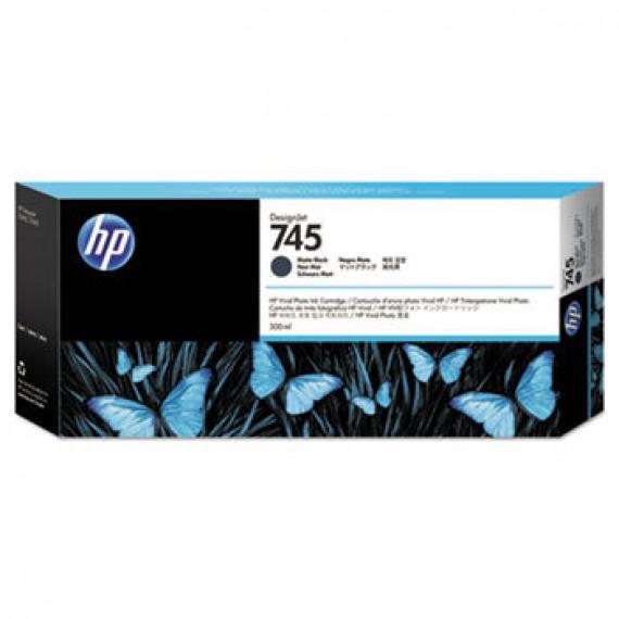 F9K05A Cartucho de tinta preto fosco HP 745 DesignJet 300 ml