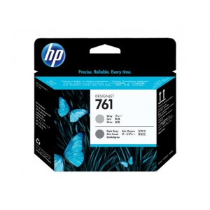 Cabeçote HP 761 Cinza e Cinza Escuro - CH647A para Plotter HP T7100 e T7200