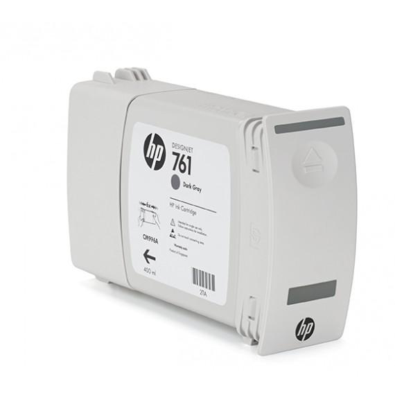Cartucho HP 761 Cinza Escuro 400 ml - CM996A para Plotter HP T7100 e T7200