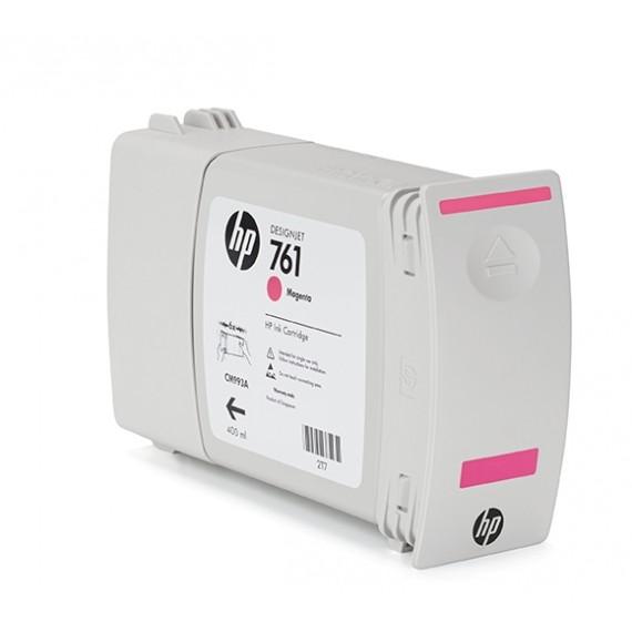 Cartucho HP 761 Magenta 400 ml - CM993A para Plotter HP T7100 e T7200