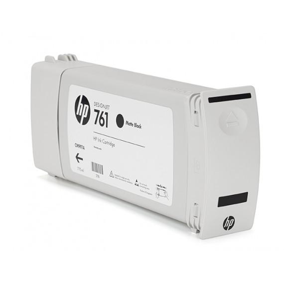 Cartucho HP 761 Preto Fosco (MK) 775 ml - CM997A para Plotter HP T7100 e T7200