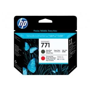 Cabecote HP 771 Preto Fosco e Vermelho Cromatico - CE017A para Plotter Z6200, Z6600, Z6800