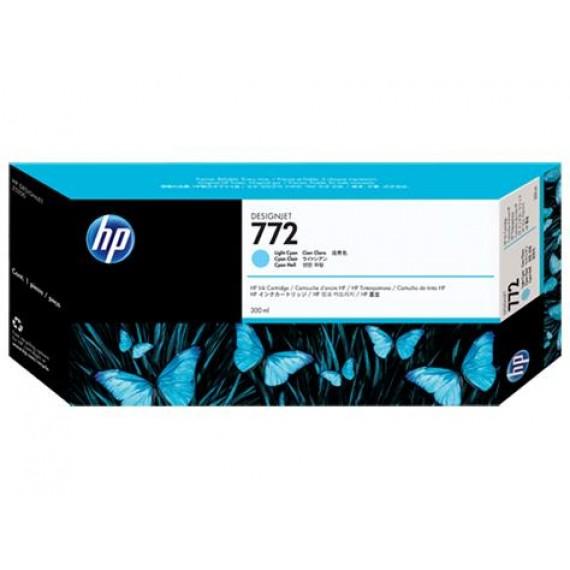 Cartucho HP 772 - Tinta Ciano Claro 300ml - CN632A para Plotter Z5200