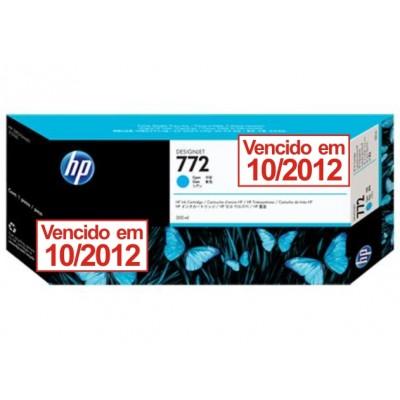 Cartucho HP 772 Vencido em 10/2012 - Tinta Ciano 300ml - CN636A para Plotter Z5200 e Z5400