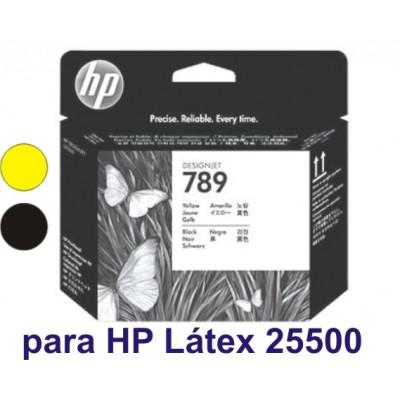 Cabecote Latex HP 789 Amarelo e Preto CH612A para Plotter L25500
