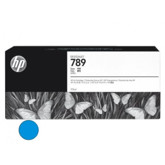 Cartucho HP 789 - Tinta Latex Ciano 775ml - CH616A - para Plotter L25500