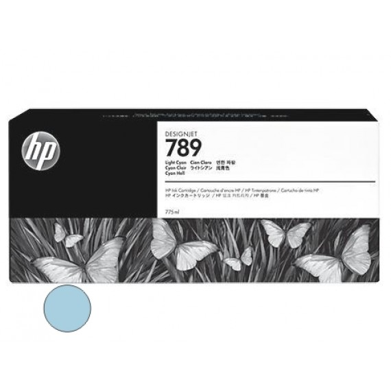 Cartucho HP 789 - Tinta Latex Ciano Claro 775ml - CH619A - para Plotter L25500