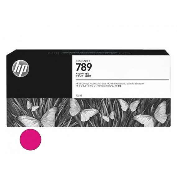 Cartucho HP 789 - Tinta Latex Magenta 775ml - CH617A - para Plotter L25500