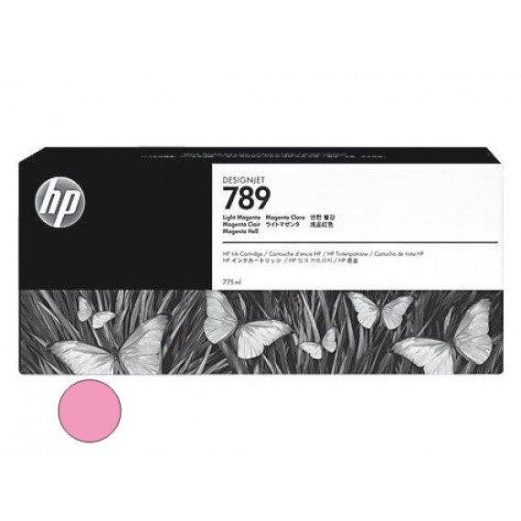 Cartucho HP 789 - Tinta Latex Magenta Claro 775ml - CH620A - para Plotter L25500
