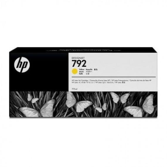 Cartucho Tinta Latex HP 792 Amarelo 775ml CN708A para Plotter L26500,L28500,L260,L280