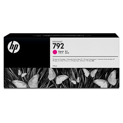 Cartucho Tinta Latex HP 792 Magenta 775ml CN707A para Plotter L26500,L28500,L260,L280