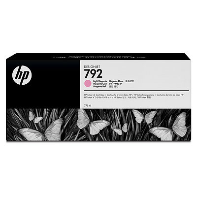 Cartucho Tinta Latex HP 792 Magenta Claro 775ml CN710A para Plotter L26500,L28500,L260,L280