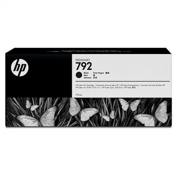 Cartucho Tinta Latex HP 792 Preto 775ml CN705A para Plotter L26500,L28500,L260,L280
