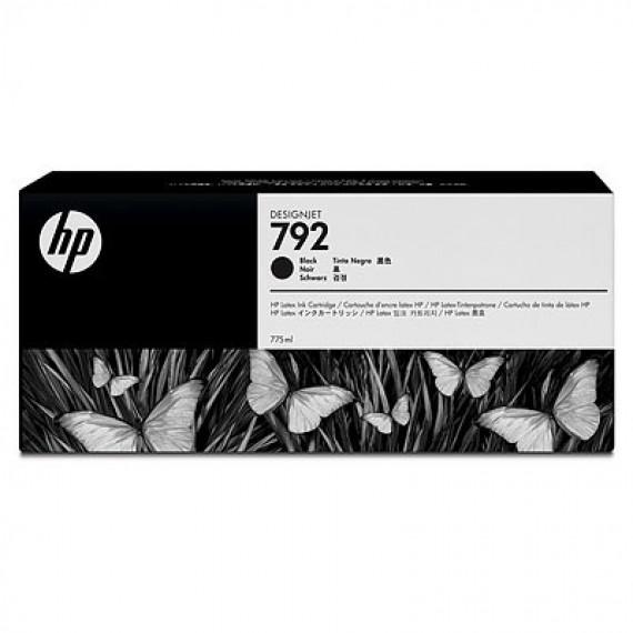 Cartucho Tinta Latex HP 792 Preto 775ml CN705A para Plotter L26500,L28500,L260,L280